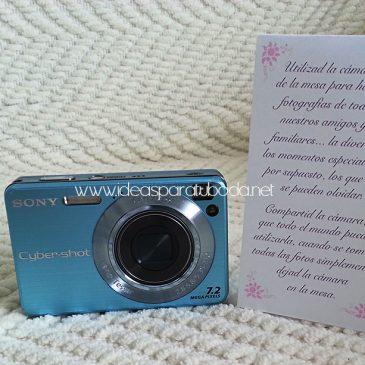 Carteles para Cámaras de Fotos con Instrucciones