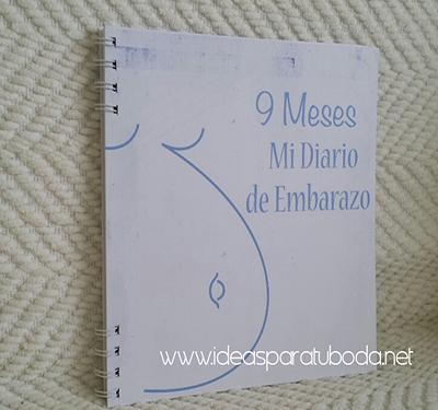 agenda del embarazo 9 meses azul