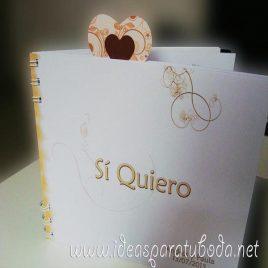 Agenda de boda Flor