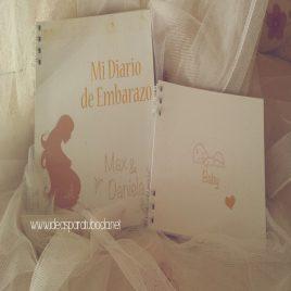 Agenda de embarazo Diario y Libro del Bebe