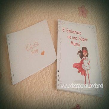 Agenda de embarazo Super Mama y Libro del Bebe
