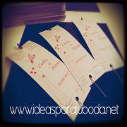 Tarjeta para bengala para boda