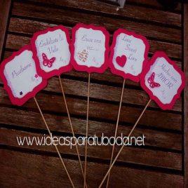 Carteles decorativos para candy bar de boda Sweet Love