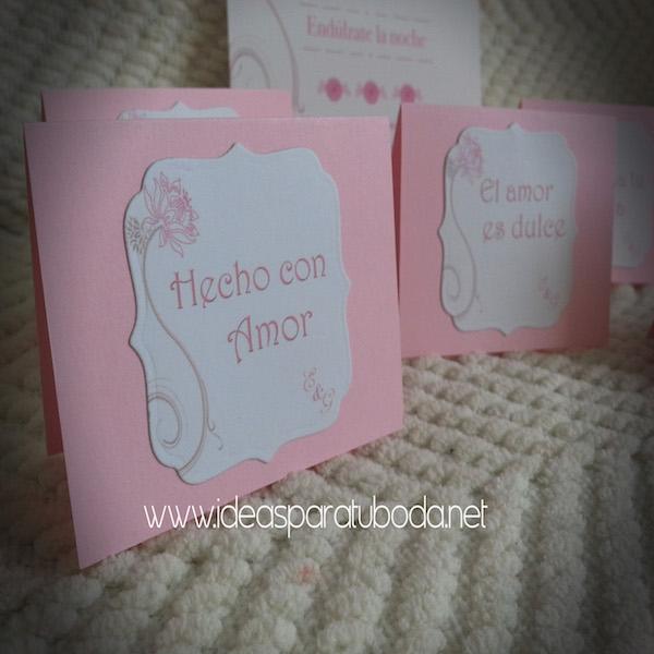 Carteles para candy bar de boda Dulce Noche