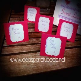 Carteles para candy bar de boda Sweet Love