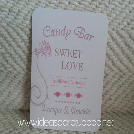 Lámina cartel para candy bar de boda Dulce Noche