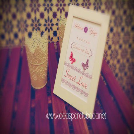 Lámina cartel para candy bar de boda Sweet Love 2