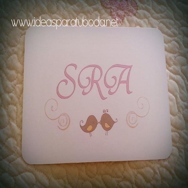 Cartel decorativo para photocall de boda Mrs Sra