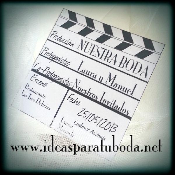 Invitación de boda Cine ( invitaciones bodas )
