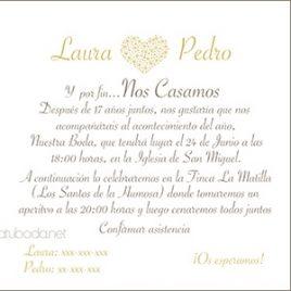 Invitación de boda Elegance ( invitaciones bodas )