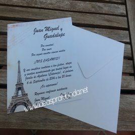 Invitación de boda Paris ( invitaciones bodas )