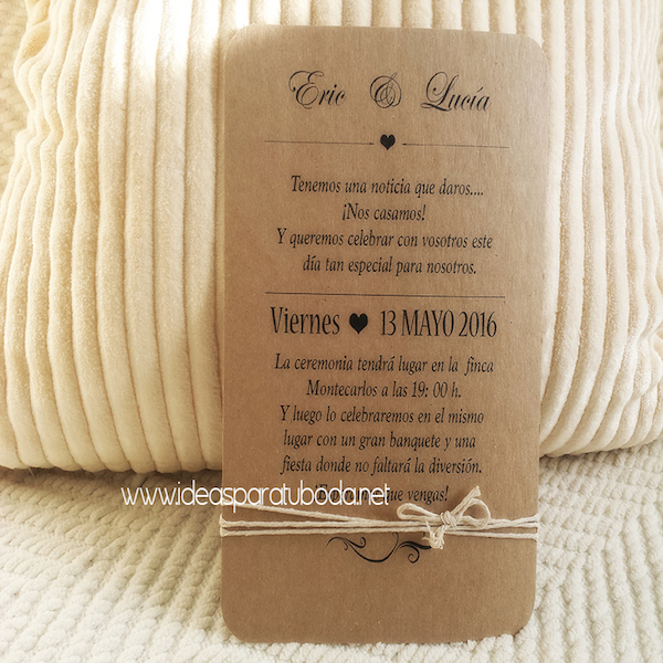 Invitación de boda Vintage ( invitaciones bodas )