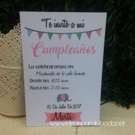 Invitación de Fiestas y Cumpleaños Banderines