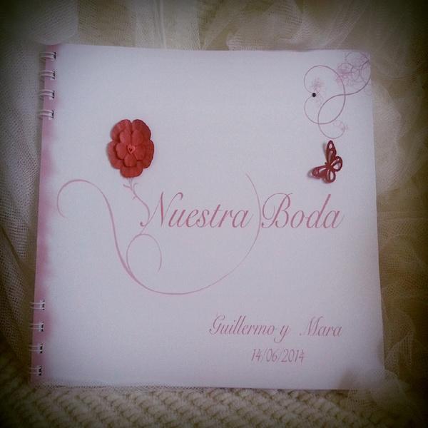 Libro de firmas para boda Flor Especial