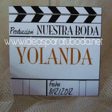 Marca sitio ( marcasitio ) para invitados de boda Claqueta Cine