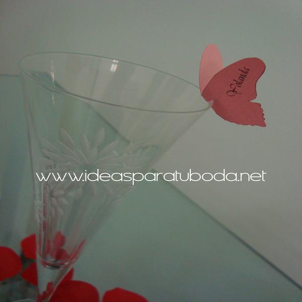 Marca sitio ( marcasitio ) de Mariposa para invitados de boda Color
