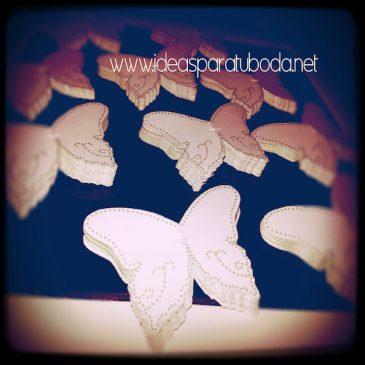 Marca sitio ( marcasitio ) de Mariposa para invitados de boda Golden