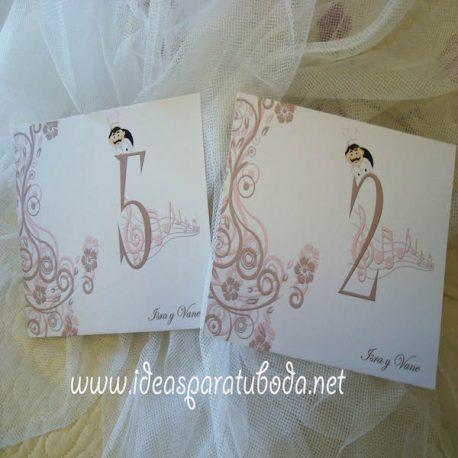 Número de Mesa para boda Chic