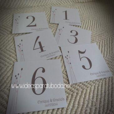 Número de Mesa para boda Elegance