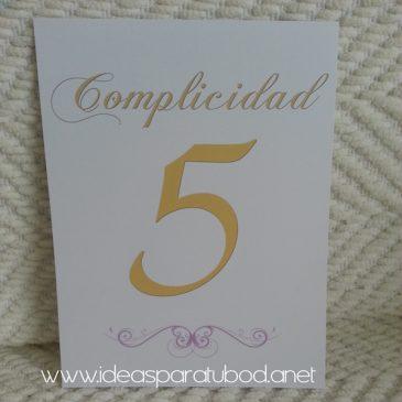Número de Mesa para boda Love