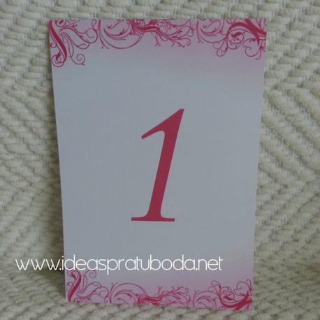 Número de Mesa para boda Sugar