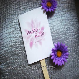 Pai Pais para boda Flower