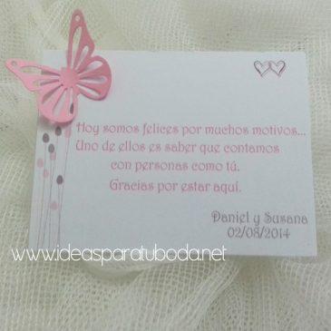 Tarjeta de Agradecimiento para boda Elegancia