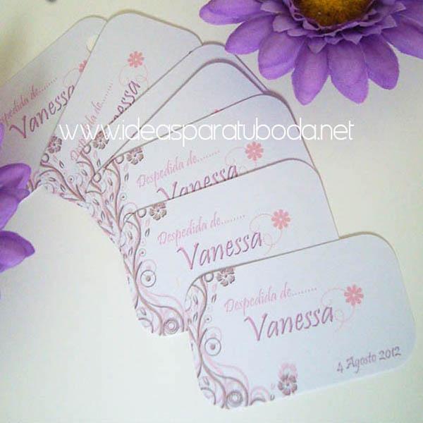 Tarjetas de regalo para invitados de boda One