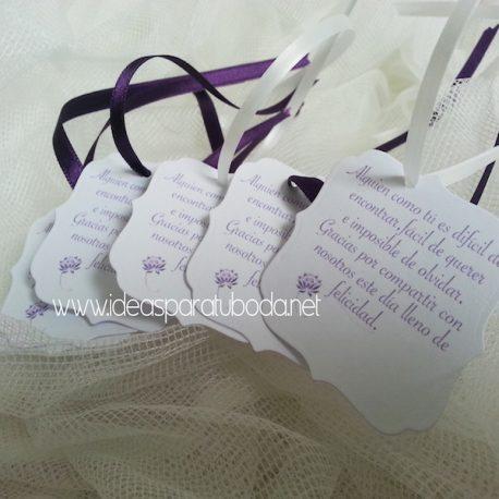 Tarjetas de regalo para invitados de boda Unic