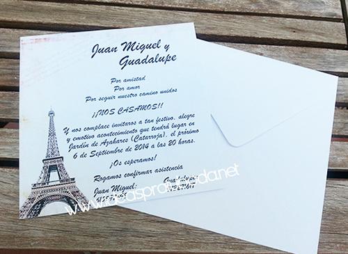 invitacion boda paris
