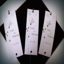 Tarjeta para bengala para boda Fucsia