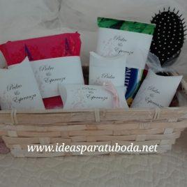 cesta baño boda chica modelo alegría