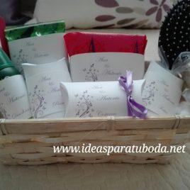 cesta baño lila
