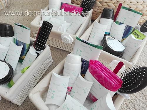 cestas baño boda pack modelo mint verde