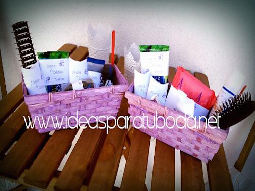 cestas baño pack lila boda