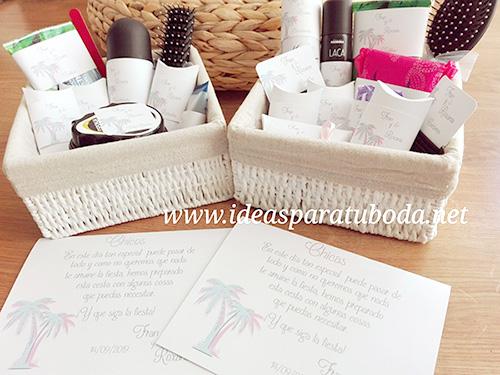 pack cestas baño boda palmeras tropical