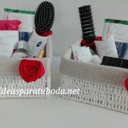 pack cestas baño boda red