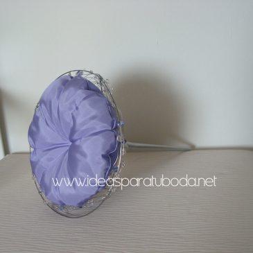 porta alfileres para boda violet