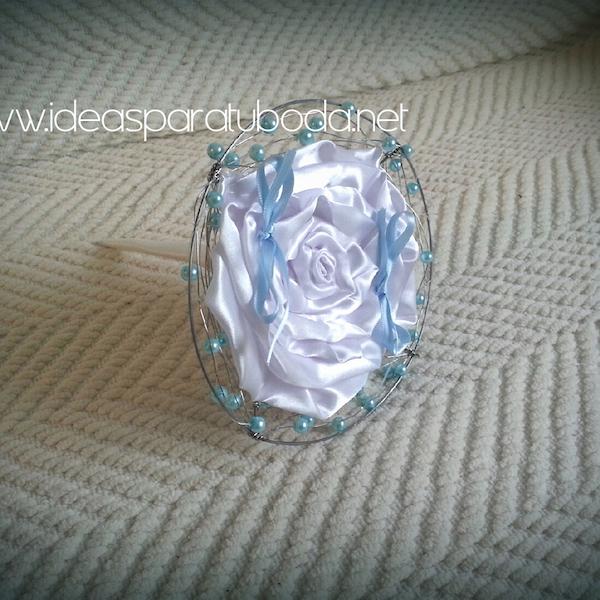 Porta alianzas para boda Blue