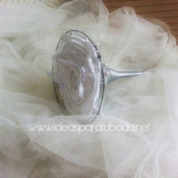Porta alianzas para boda Plata