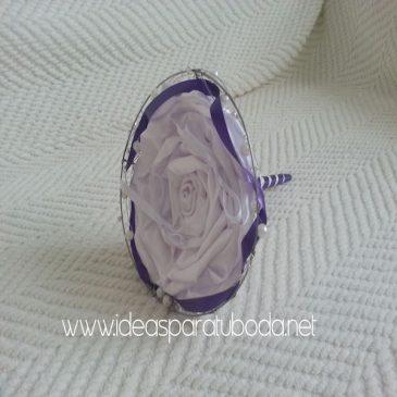 Porta alianzas para boda Purple