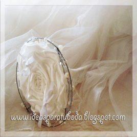 Porta alianzas para boda Snow