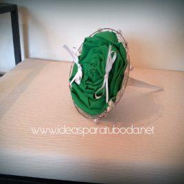 Porta alianzas para boda Green