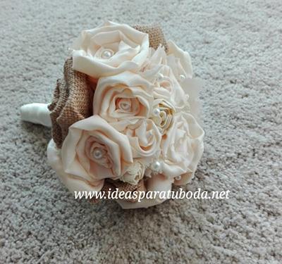 ramo novia ideal flores de tela