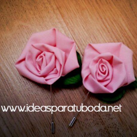 prendido boda para novio modelo rosa