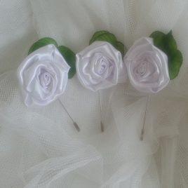 prendido bodas para novio modelo white
