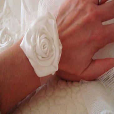 ramillete pulsera para boda modelo white