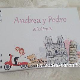 agenda boda novios viajeros