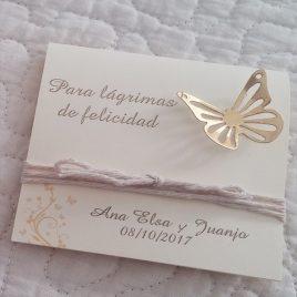 lagrimas felicidad boda estuche mariposa dorada1