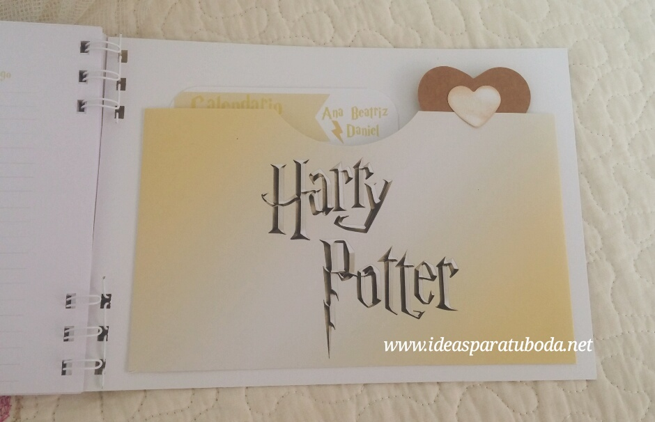 agenda boda harry potter bolsillo